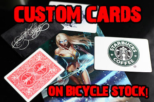 custom printed playing cards bicycle